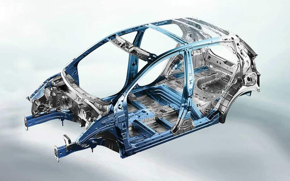 Chasis de acero de alta resistencia del Kia Picanto