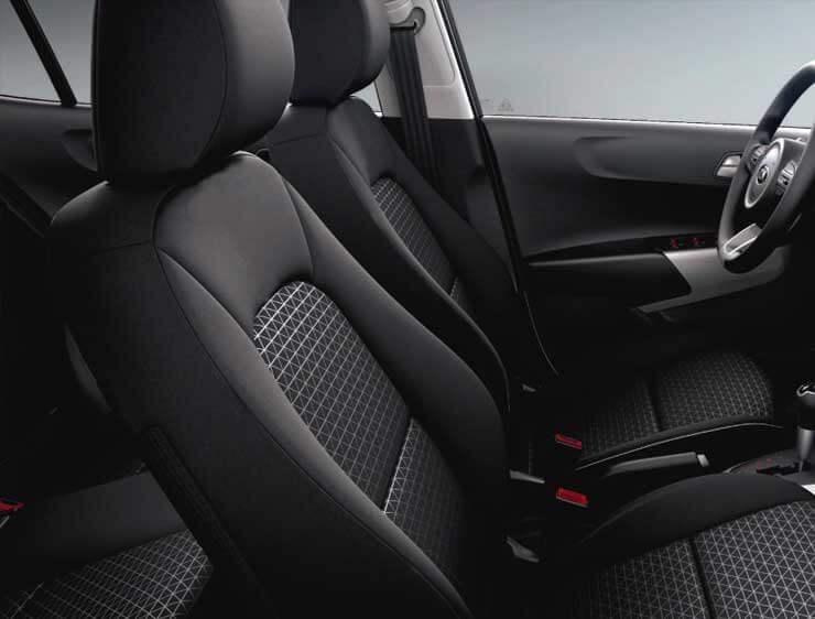 Espacio interior del Kia Picanto
