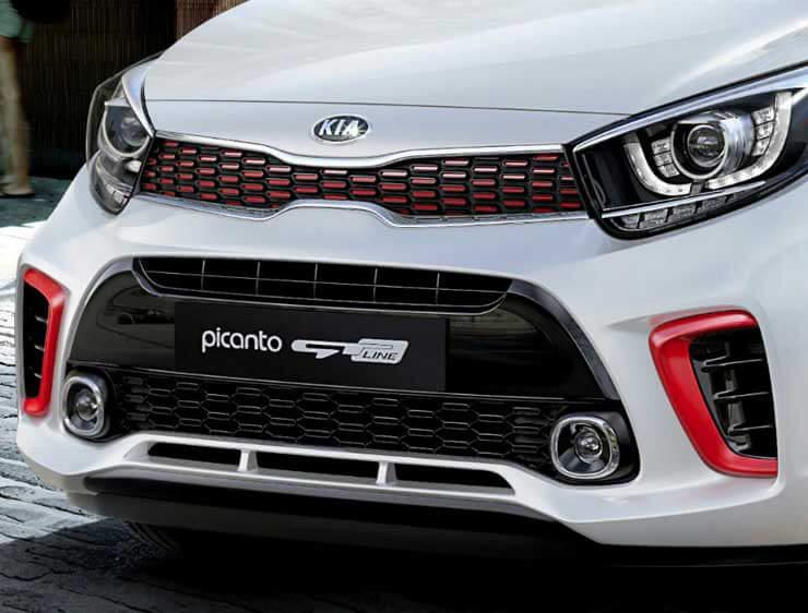 Parrilla revestida de con inserciones de color rojo Kia Picanto GT