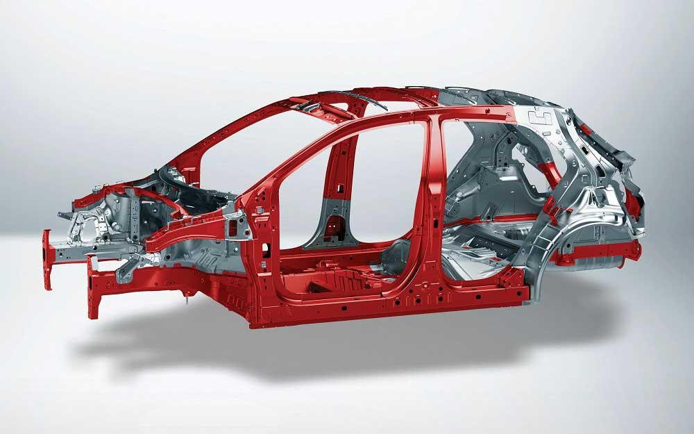 Chasis de acero de alta resistencia del Kia Tonic