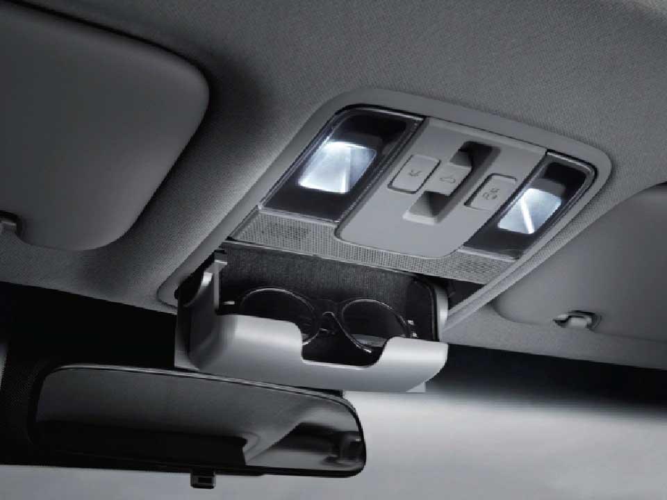 Consola de techo con luces LED y portagafas Kia Cerato Vivro