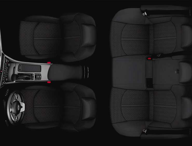 Espacio interior Kia Optima Híbrido